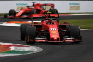 Leclerc scores Italian GP pole as qualifying ends in farce