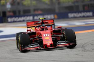 Leclerc tops Singapore FP3 to put Ferrari in pole fight