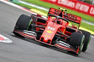 Leclerc leads Ferrari 1-2 in damp final Mexico practice