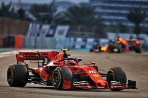 "Leclerc says Ferrari ""just not fast enough"" in Abu Dhabi"