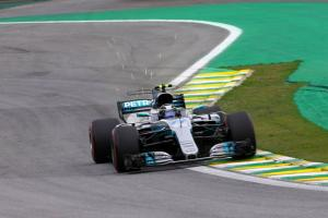 Bottas grabs Brazilian GP pole as Hamilton crashes out early