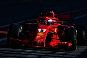 Vettel leads morning of second F1 test, McLaren completes 7 laps