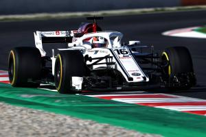 Leclerc angry with himself after late F1 testing error