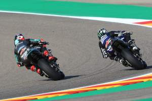 Fabio Quartararo, Maverick Vinales Aragon MotoGP. 16 October 2020