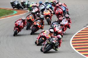 Aleix Espargaro race start, German MotoGP, 20 June 2021