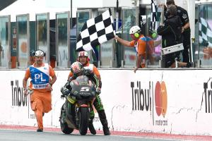 Running man: Zarco gets his point