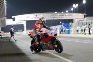 Dovizioso pips Petrucci, Rins third