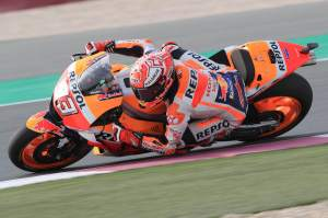 Marquez leads Dovizioso and Petrucci in warm-up