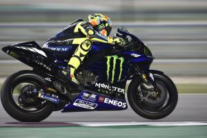 Rossi leads Lorenzo as MotoGP returns