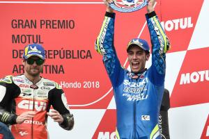 Front-running Rins heads to scene of first MotoGP podium