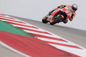 Marquez wary of Vinales, track 'moving'