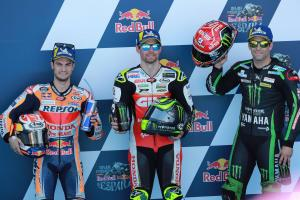 Crutchlow relishes pole position after frustrations