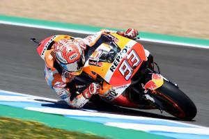 Marquez fastest as both Repsol Hondas fall