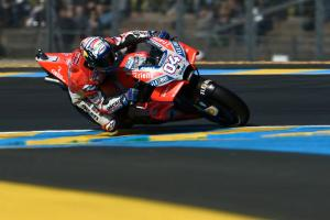 Dovizioso under lap record to head up Marquez in FP2