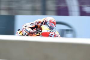 Marquez and Dovizioso lead warm-up, Zarco falls