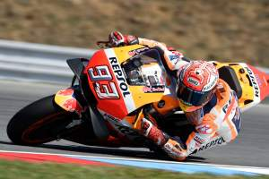 Marquez fastest, four bikes, Ducati fight 'difficult'