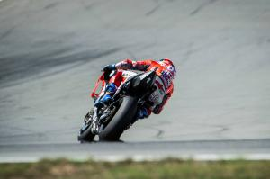 Dovizioso leads Ducati 1-2 in warm-up