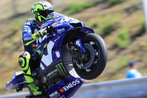 Rossi leads FP3, Vinales misses out on top 10