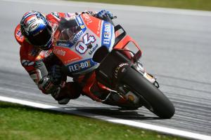 Dovizioso leads Ducati domination in FP1 at Aragon