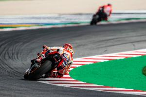 Marquez ominous in morning warm-up
