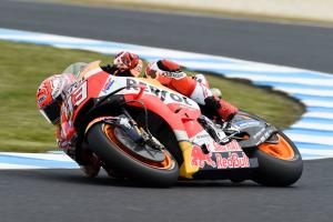 Marquez on top despite FP3 fall