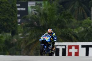 Rins fastest from Marquez as Lorenzo struggles at Sepang