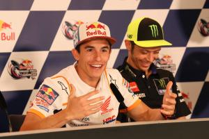'Right moment' for Rossi, Marquez handshake