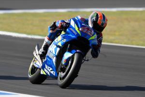 Rins holds back Suzuki soft tyre pace