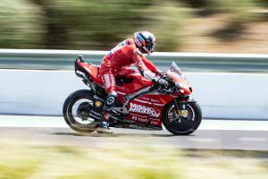 Petrucci beats Marquez with lap record, Rossi in Q1
