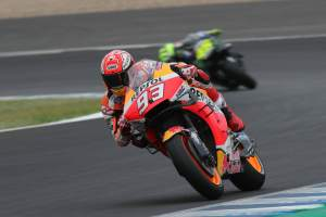 Marquez shakes off mechanical issue, fall to top warm-up