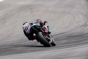 Quartararo flying in FP1, Rossi loses chain