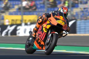 Pol quick, comfortable on KTM's carbon-fibre swingarm