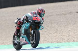 Quartararo smashes lap record, Rossi heads to Q1 again