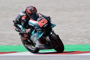 Quartararo battles Vinales as Dovizioso scrapes into Q2