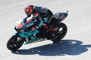 Quartararo on lap record pace to lead British MotoGP FP1