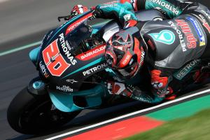 Quartararo shakes off neck pain to lead Petronas Yamaha 1-2