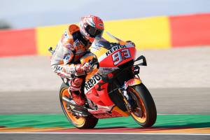Marquez eases to Aragon MotoGP pole position