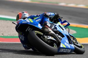 Rins tops drying FP3 at Aragon