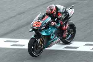 Quartararo on lap record pace to lead in FP1