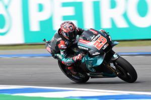 Quartararo takes Thailand MotoGP pole, Marquez, Rossi fallers