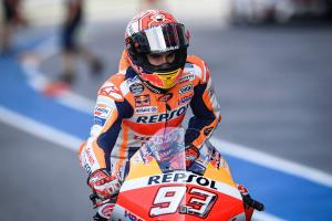 Marquez tops Thailand MotoGP Warm-up as Dovizioso hits trouble