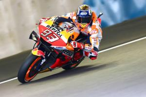 Marquez leads Japanese MotoGP warm-up as temperatures increase