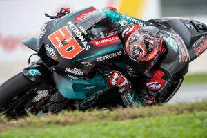 Quartararo keeps top spot as rain curtails FP3, Zarco makes Q2