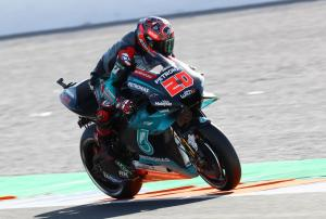 Quartararo leads Vinales as Rossi falls again in FP2