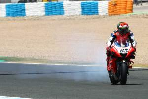 Bagnaia's podium dream goes up in smoke