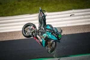 IN PICS: Rossi and Vinales' frightening Austrian MotoGP near-miss