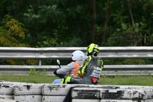 Valentino Rossi crash, MotoGP race, Calatunya MotoGP, 27 September 2020