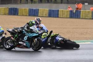 Valentino Rossi crash, French MotoGP race, 11 October 2020