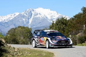 Ogier sets up Tour de Corse victory, Meeke drops out