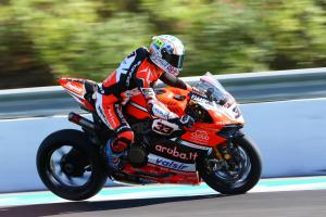 Melandri bags first pole since WSBK return